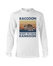 Raccoon Want To Crab Long Sleeve Tee thumbnail