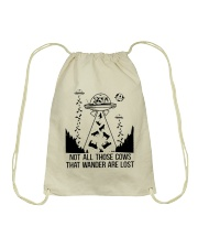 Not All Those Cows Drawstring Bag tile