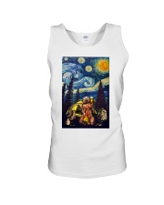 Beer With Bear Camping Poster Unisex Tank thumbnail