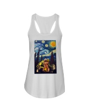 Beer With Bear Camping Poster Ladies Flowy Tank thumbnail
