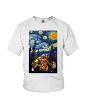 Beer With Bear Camping Poster Youth T-Shirt thumbnail