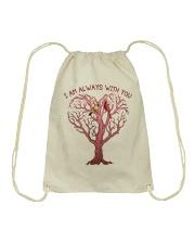 I Am Always With You Drawstring Bag thumbnail