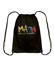 Math She Has Problem Drawstring Bag thumbnail