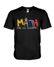Math She Has Problem V-Neck T-Shirt thumbnail