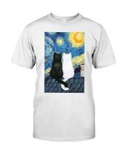 Cats Love Starry Night Art Classic T-Shirt thumbnail