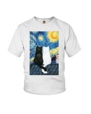 Cats Love Starry Night Art Youth T-Shirt thumbnail