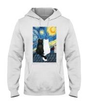 Cats Love Starry Night Art Hooded Sweatshirt thumbnail