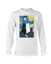 Cats Love Starry Night Art Long Sleeve Tee thumbnail