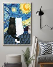 Cats Love Starry Night Art 11x17 Poster lifestyle-poster-1