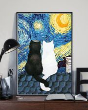 Cats Love Starry Night Art 11x17 Poster lifestyle-poster-2
