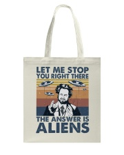 The Answer Is Aliens Tote Bag thumbnail