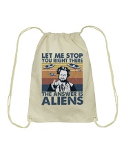 The Answer Is Aliens Drawstring Bag thumbnail
