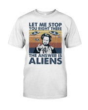 The Answer Is Aliens Classic T-Shirt front