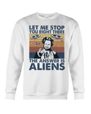 The Answer Is Aliens Crewneck Sweatshirt thumbnail