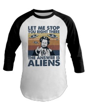 The Answer Is Aliens Baseball Tee thumbnail