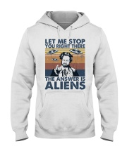 The Answer Is Aliens Hooded Sweatshirt thumbnail