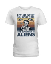The Answer Is Aliens Ladies T-Shirt thumbnail