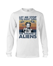 The Answer Is Aliens Long Sleeve Tee thumbnail