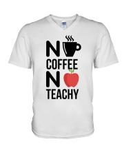 No Coffee No Teachy V-Neck T-Shirt thumbnail
