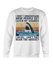 How People Get Eaten By Sharks Crewneck Sweatshirt thumbnail