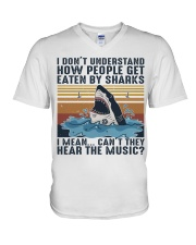 How People Get Eaten By Sharks V-Neck T-Shirt thumbnail