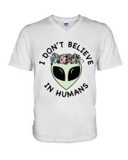 I Do Not Believe V-Neck T-Shirt thumbnail