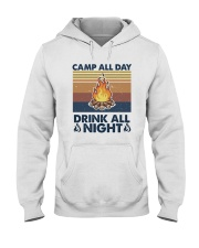 Camp All Day Drink All Night Hooded Sweatshirt front