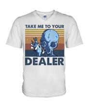 Take Me To Your Dealer V-Neck T-Shirt thumbnail