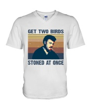 Get Two Birds V-Neck T-Shirt thumbnail