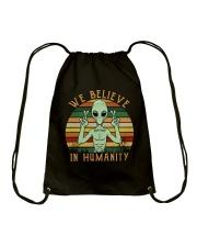 We Believe In Humanity Drawstring Bag thumbnail