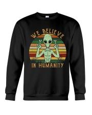 We Believe In Humanity Crewneck Sweatshirt thumbnail