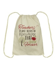 Teacher Plant Seeds Drawstring Bag thumbnail