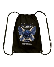 He Will Cover You With His Feathers Drawstring Bag thumbnail