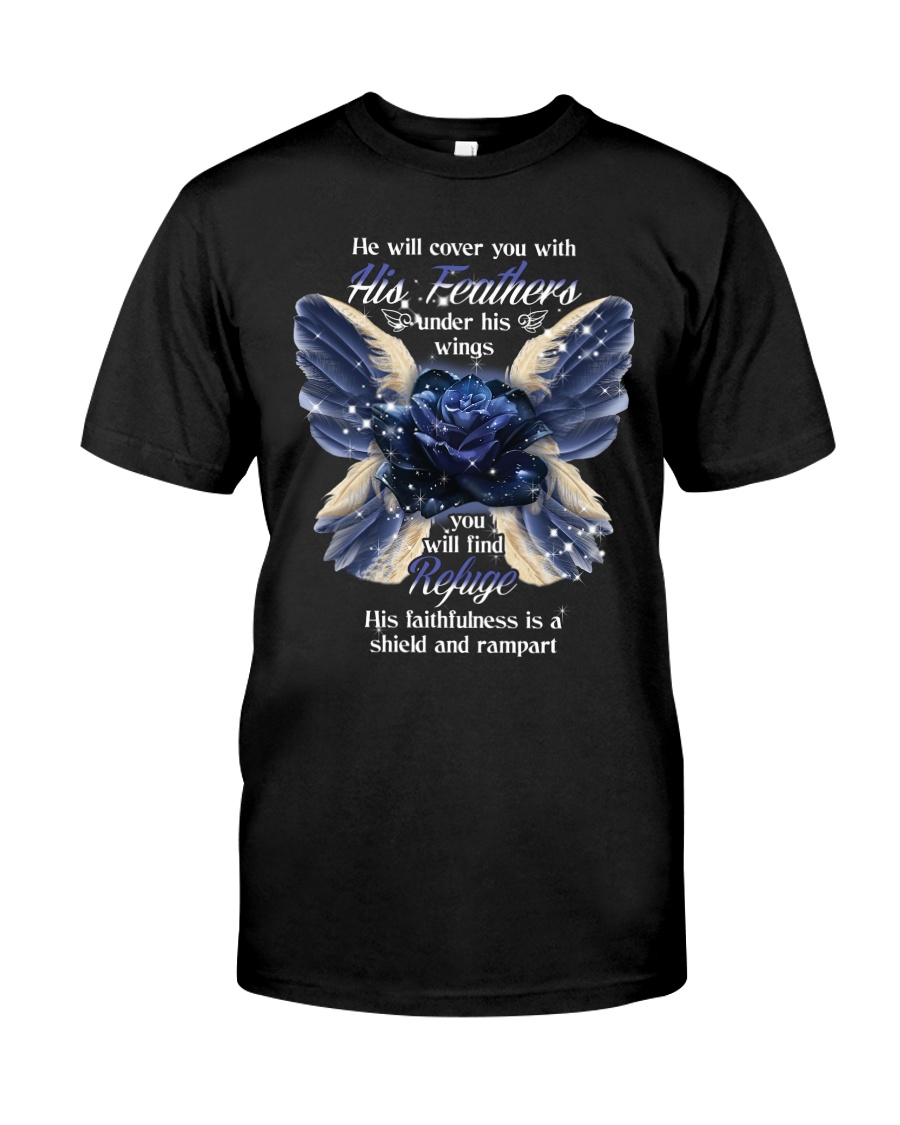 He Will Cover You With His Feathers Classic T-Shirt