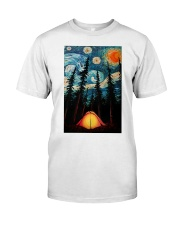 Camping Starry Night Art Poster Classic T-Shirt thumbnail
