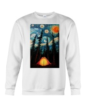 Camping Starry Night Art Poster Crewneck Sweatshirt thumbnail