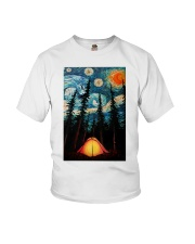 Camping Starry Night Art Poster Youth T-Shirt thumbnail