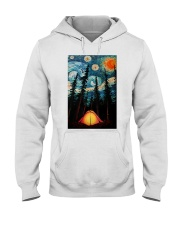 Camping Starry Night Art Poster Hooded Sweatshirt thumbnail