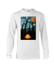 Camping Starry Night Art Poster Long Sleeve Tee thumbnail