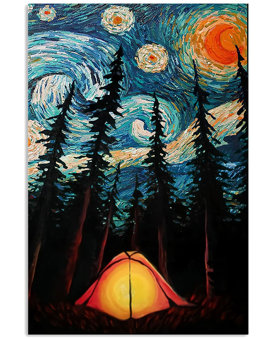 Camping Starry Night Art Poster 11x17 Poster