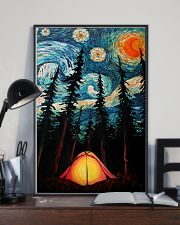 Camping Starry Night Art Poster 11x17 Poster lifestyle-poster-2