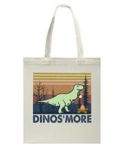 Dinosmore Funny Camping Shirt Tote Bag thumbnail