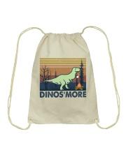 Dinosmore Funny Camping Shirt Drawstring Bag thumbnail