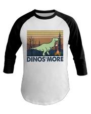 Dinosmore Funny Camping Shirt Baseball Tee thumbnail