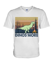 Dinosmore Funny Camping Shirt V-Neck T-Shirt thumbnail