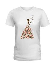 A Girl Loves Books Ladies T-Shirt thumbnail