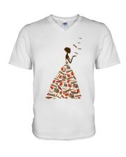 A Girl Loves Books V-Neck T-Shirt thumbnail
