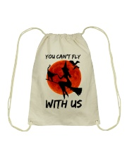 You Cant Fly With Us Drawstring Bag thumbnail
