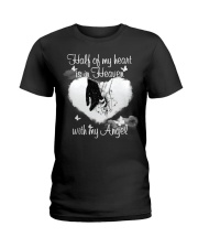 Half Of My Heart Is In Heaven Ladies T-Shirt thumbnail