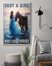 Just A Girl Who Loves Horse 11x17 Poster lifestyle-poster-1